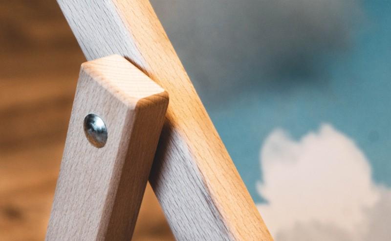 Holzkonstruktion Nahaufnahme